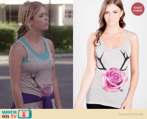 Royal Rabbit Antler Rose Modal Luxe Tank worn by Ashley Benson on PLL
