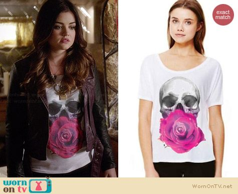 Royal Rabbit Life & Death Flowy Tee worn by Lucy Hale on PLL