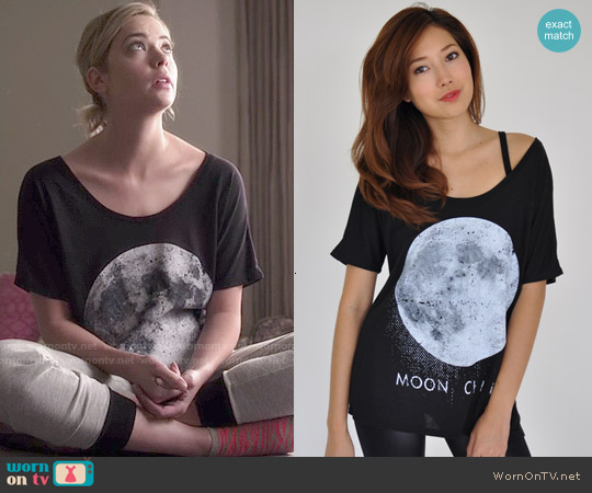 Royal Rabbit Moon Child Perfect Flowy Tee worn by Ashley Benson on PLL
