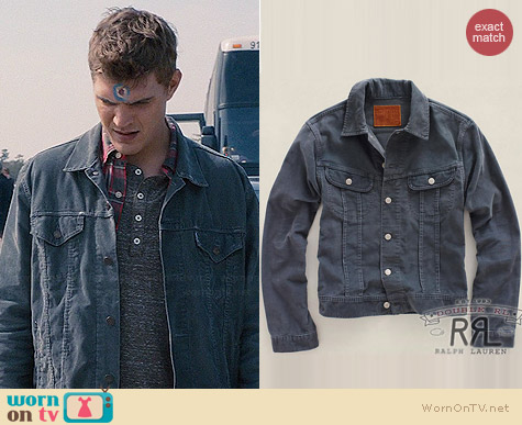 RRL Ralph Lauren Corduroy Lot 271 Trucker Jacket worn by Chris Zylka on The Leftovers