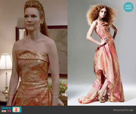 Rubin Singer Fall 2015 Pink Gown worn by Darby Stanchfield on Scandal