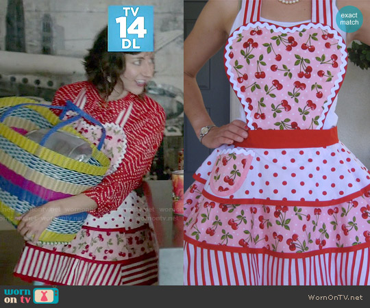ruffledfrenzy Red Cherry Apron worn by Kristen Schaal on Last Man On Earth