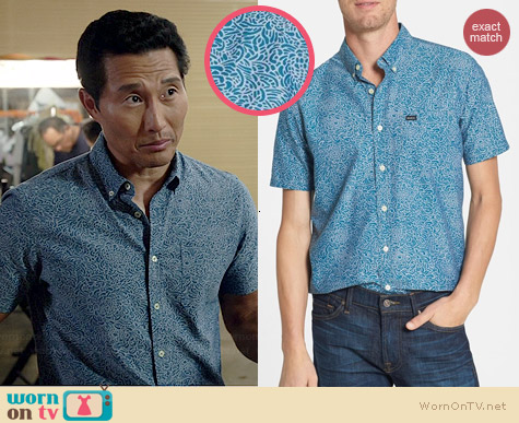 RVCA That'll Do Shirt in Saxony Blue worn by Daniel Dae Kim on Hawaii Five-O