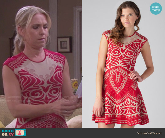 RVN Henna Lace Jacquard Dress worn by Melissa Reeves on Days of our Lives