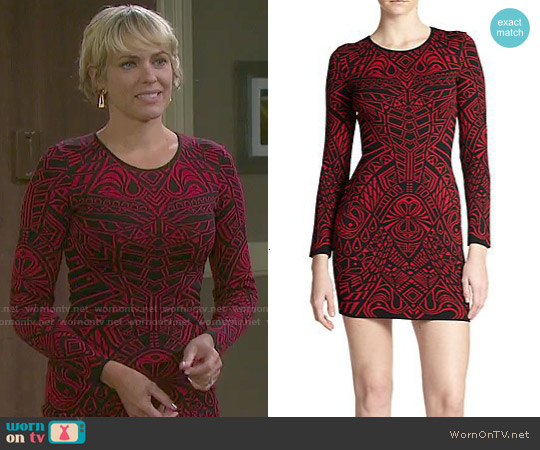 RVN Mehndi Jacquard Sheath worn by Arianne Zucker on Days of our Lives
