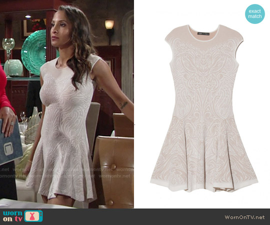 RVN Tattoo Lace Dress worn by Christel Khalil on The Young & the Restless