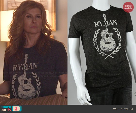 Ryman Flocked Guitar Tee worn by Connie Britton on Nashville