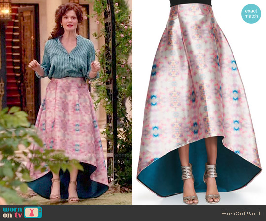 Sachin + Babi Avalon Printed High-Low Skirt worn by Rebecca Wisocky on Devious Maids