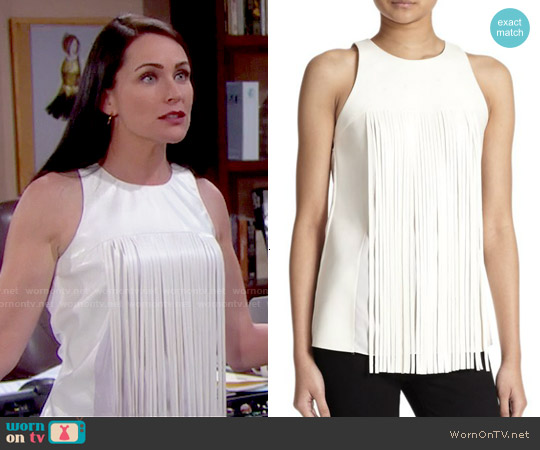 Sachin + Babi Nocturne Sleeveless Top worn by Rena Sofer on The Bold & the Beautiful