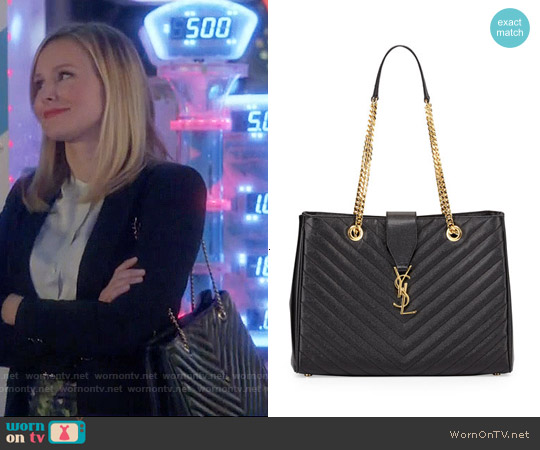 Saint Laurent Monogram Matelasse Shopper Bag worn by Kristen Bell on House Of Lies