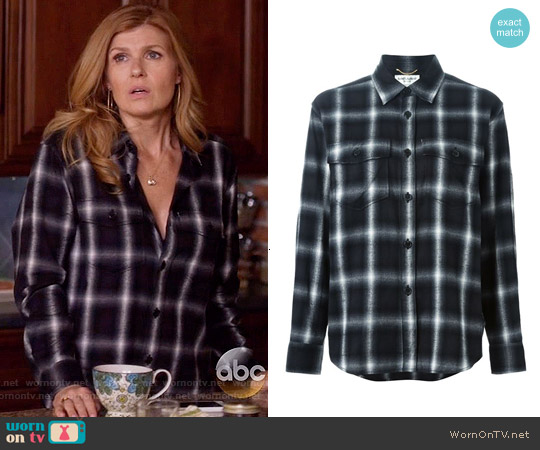 Saint Laurent Classic Plaid Shirt worn by Connie Britton on Nashville