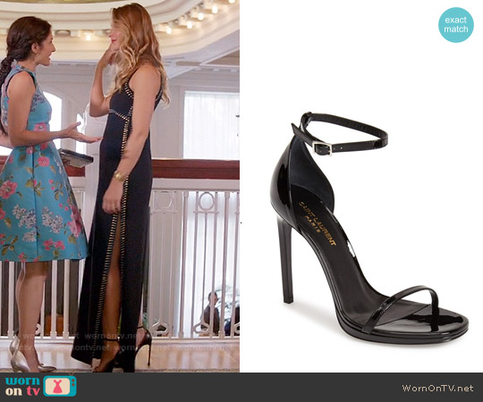 Saint Laurent Jane Sandals worn by Phoebe Wells on GG2D