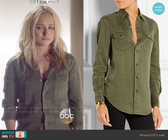 Saint Laurent Washed Denim Shirt worn by Hayden Panettiere on Nashville