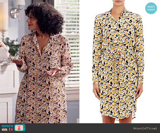 Saloni Jolie Shirtdress worn by Tracee Ellis Ross on Blackish