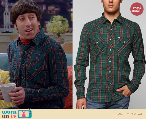 Salt Valley Carver Western Shirt worn by Simon Helberg on The Big Bang Theory
