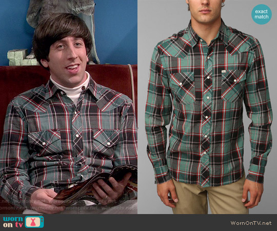 Salt Valley Cassidy Western Shirt worn by Simon Helberg on The Big Bang Theory