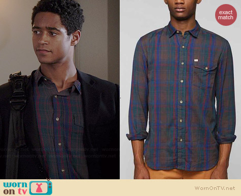 Salt Valley Denton Plaid Shirt worn by Arnold Enoch on HTGAWM