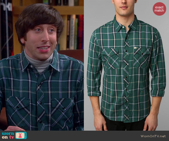 Salt Valley Tufts Plaid Western Shirt worn by Simon Helberg on The Big Bang Theory