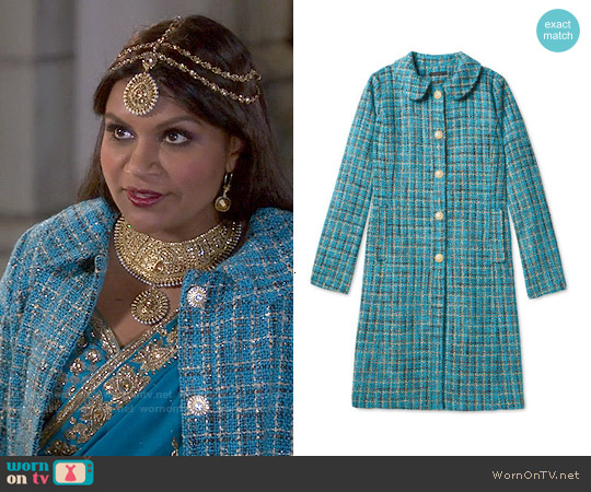 Salvador Perez Peter Pan Collar Coat worn by Mindy Kaling on The Mindy Project