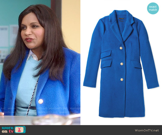 Salvador Perez Single Breasted Opera Coat worn by Mindy Kaling on The Mindy Project