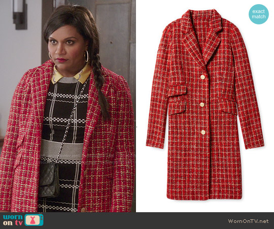 Salvador Perez Single Breasted Opera Coat worn by Mindy Lahiri on The Mindy Project