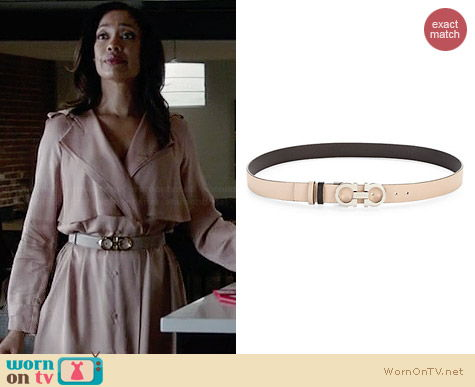 Salvatore Ferragamo Double Gancini Leather Belt worn by Gina Torres on Suits