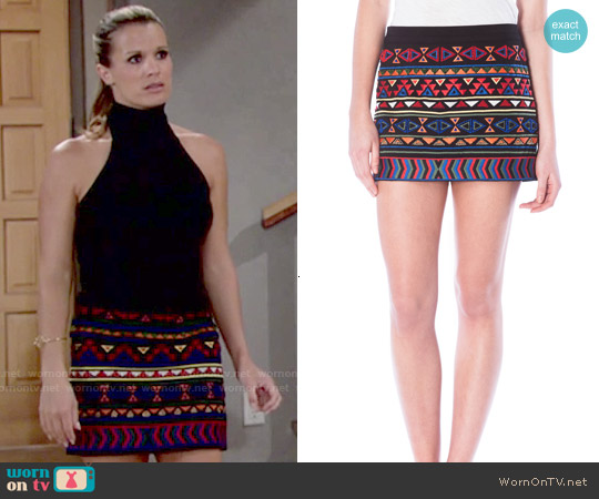 Sam Edelman Beaded Mini Skirt worn by Melissa Claire Egan on The Young & the Restless