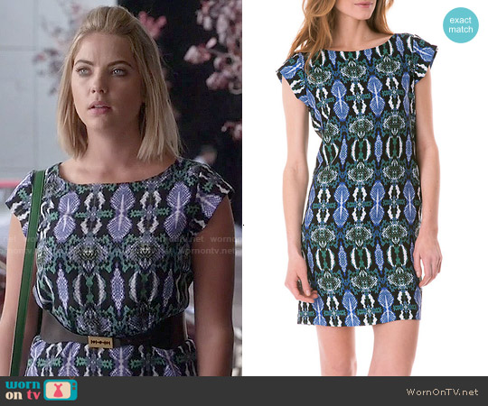 Sam Edelman Snake Print Shift Dress worn by Ashley Benson on PLL