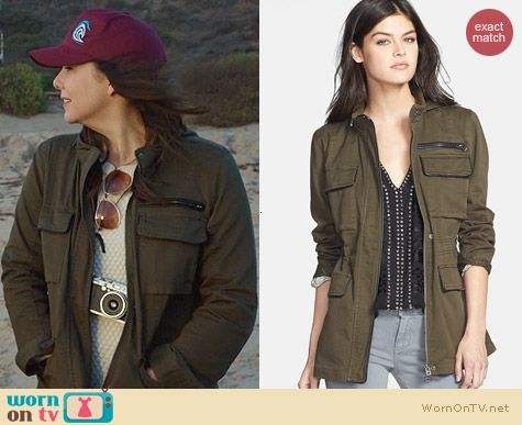 Sanctuary New Civilian Leather Trim Military Jacket worn by Lauren Graham on Parenthood