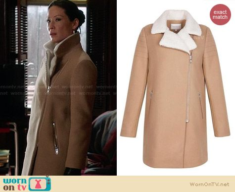 Sandro Biker Coat worn by Lucy Liu on Elementary