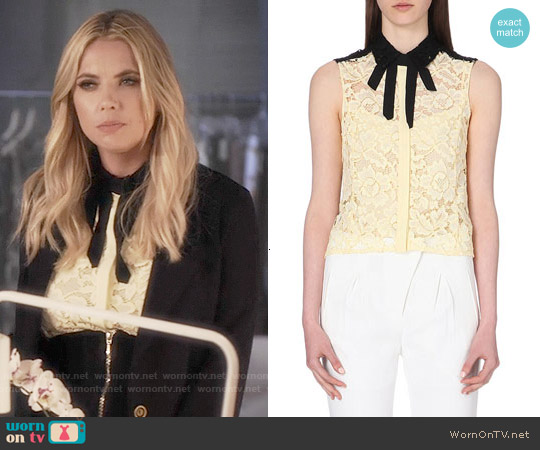 Sandro 'Clem' Lace Top worn by Ashley Benson on PLL