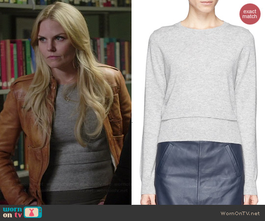 Sandro Double Layer Hem Sweater worn by Jennifer Morrison on OUAT
