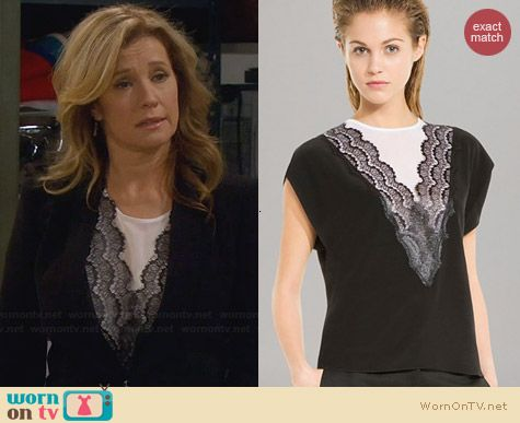 Sandro Eblouie Top worn by Nancy Travis on Last Man Standing