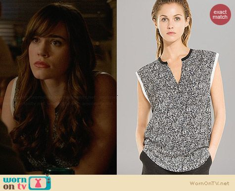 Sandro Edimbourg Top worn by Christa Allen on Revenge