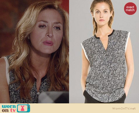 Sandro Edimbourg Top worn by Sasha Alexander on Rizzoli & Isles