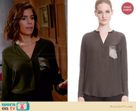 Sandro Eldorado Blouse worn by Ana Ortiz on Devious Maids