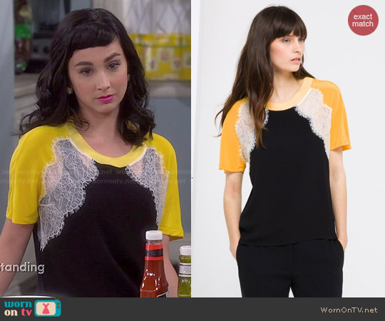 Sandro Ella Top worn by  Molly Ephraim on Last Man Standing