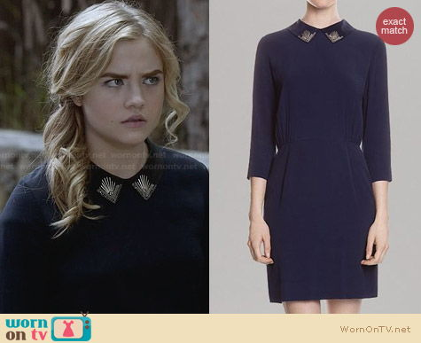 Sandro Rodo Embellished Collar Dress worn by Maddie Hasson on Twisted