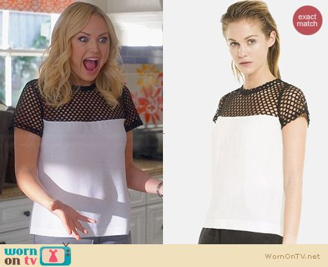 Sandro Emeraude Top worn by Malin Akerman on Trophy Wife