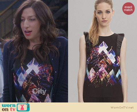 Sandro Etincelle Printed Top worn by Chelsea Perretti on Brooklyn99