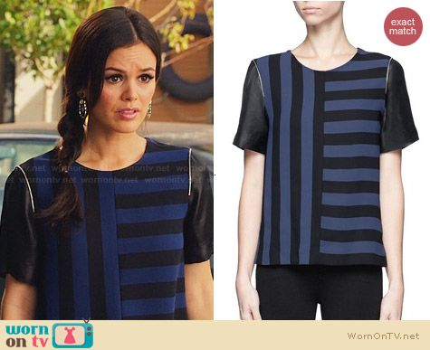 Sandro Eveil Striped Top worn by Rachel Bilson on Hart of Dixie