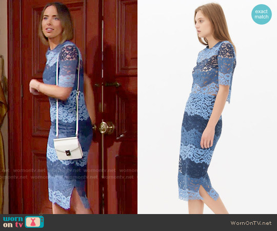 Sandro Exil Top and Jonas Skirt worn by Ashleigh Brewer on The Bold & the Beautiful