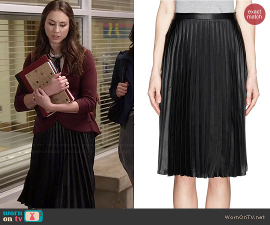 Sandro Java Pleated Skirt worn by Troian Bellisario on PLL