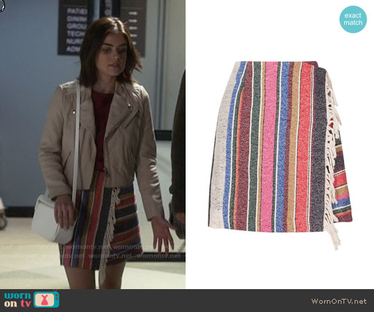 Sandro Josy Skirt worn by Aria Montgomery on PLL