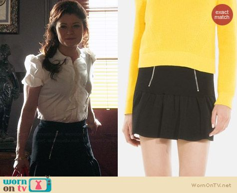 Sandro Joyeuse Gathered Skirt worn by Emilie de Ravin on OUAT