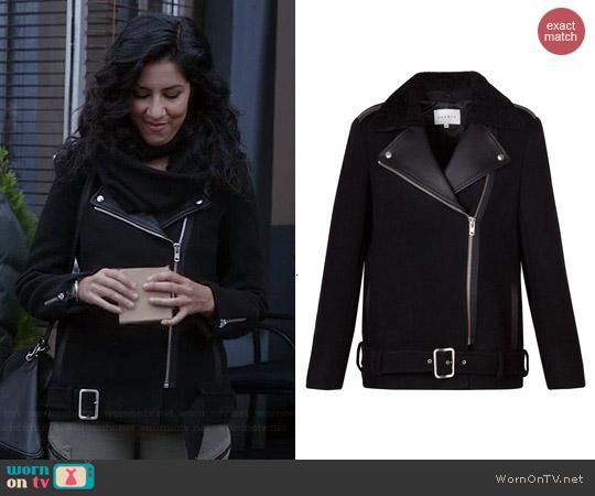 Wornontv Rosa S Black Leather Lapel Moto Jacket And Zip