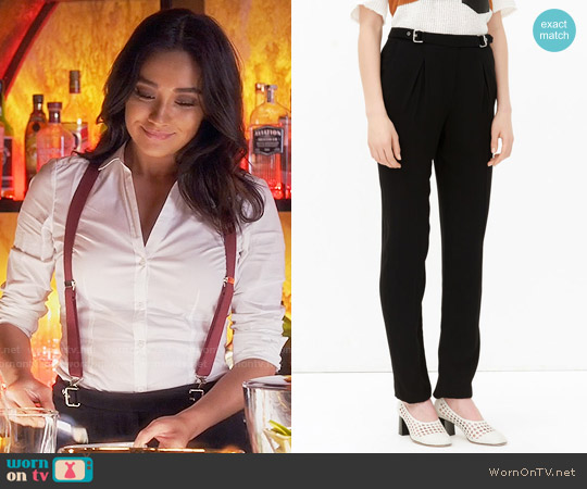 Sandro Pacifik Trousers worn by Shay Mitchell on PLL
