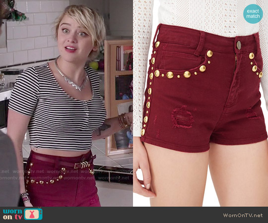 Sandro Pichi Studded Shorts worn by Roxie Reid on Kevin from Work