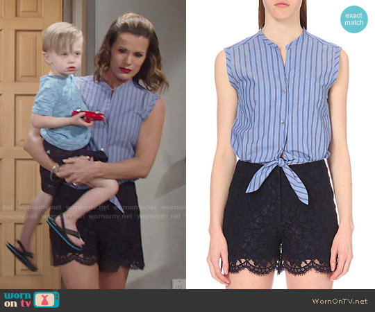 Sandro Poma Playsuit worn by Melissa Claire Egan on The Young & the Restless