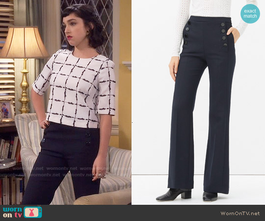 Sandro Pootsie Trousers worn by Mandy Baxter on Last Man Standing